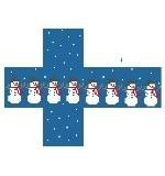 Canvas SNOWMAN CUBE  CO506