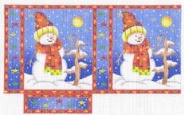 Canvas SNOWMAN SHOPPING BAG ACOD2122