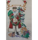 Canvas SANTA/BUNNY STOCKING  1761
