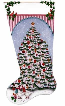 Canvas PEPPERMINT STICK TREE  885