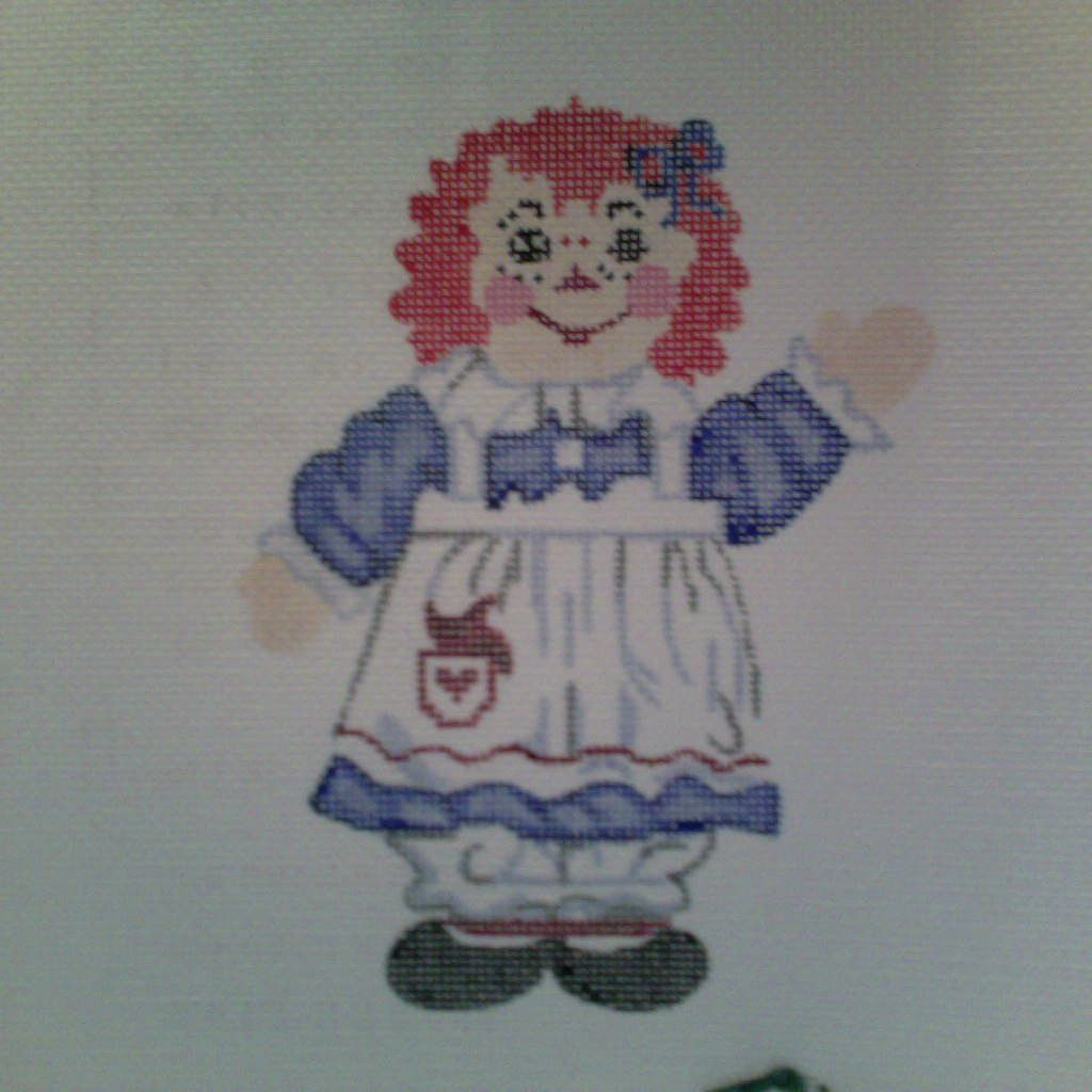 Canvas RAGGEDY ANN  XO13