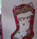 Canvas GINGERBREAD SOCK  MLT138B