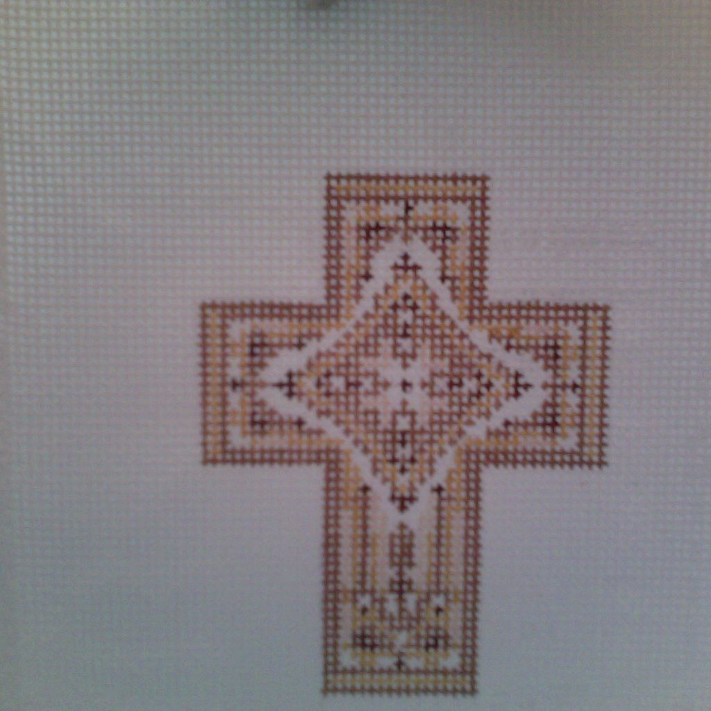 Canvas GOLD ENAMEL CROSS N1724