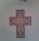 Canvas PURPLE ENAMEL CROSS N1721