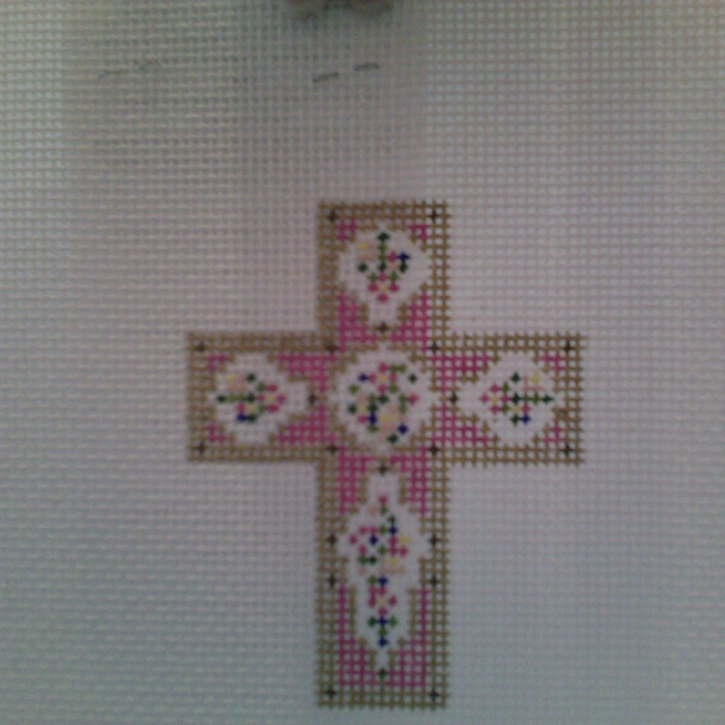 Canvas CORAL ROSE CROSS N1700