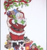 Canvas SANTA AND TOYS STOCKING GIRL CS7145-S
