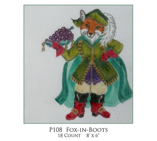 Canvas FOX IN BOOTS P108 - SALE<br /> REG 62.00