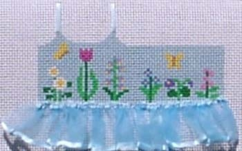 Canvas BLUE FLOWER TUTU TOPPER  TO82