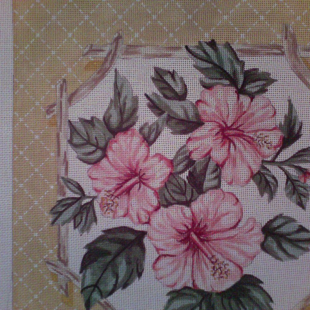 Canvas PINK HIBISCUS  P25