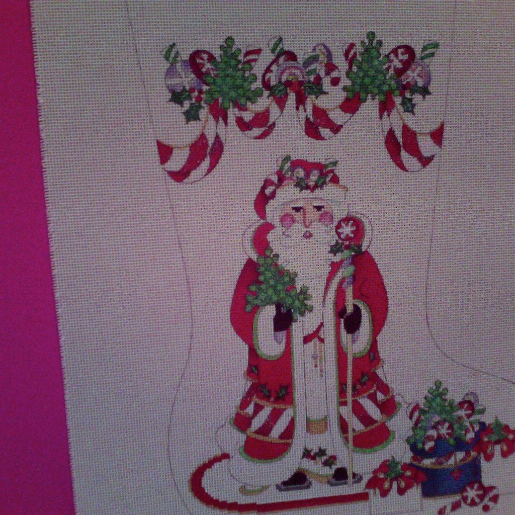 Canvas OLD FASHIONED SANTA  CS1180