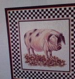Canvas PIG IN BORDER  AP28