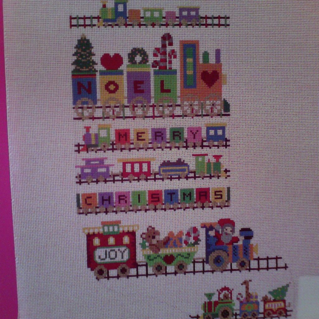 Canvas CHRISTMAS TRAIN  M054