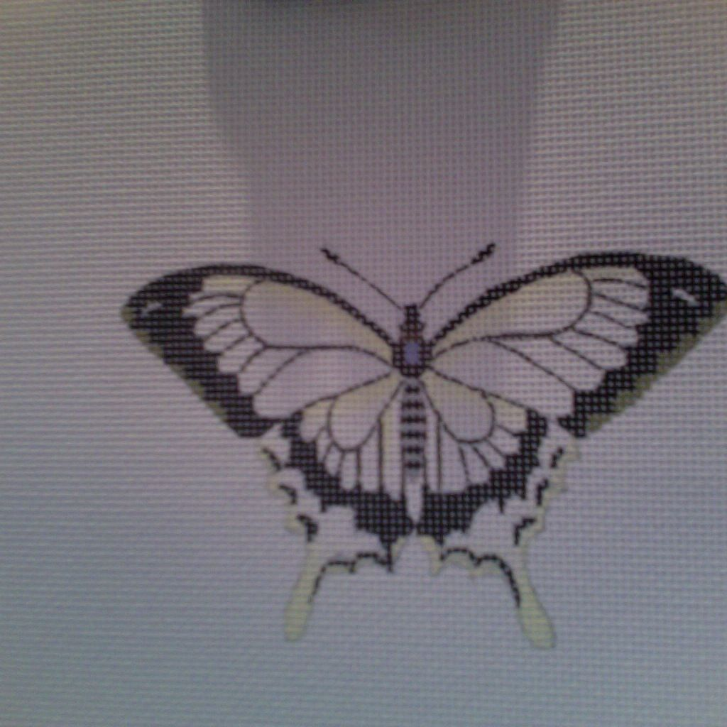 Canvas BUTTERFLY BLACK/WHITE  1414A