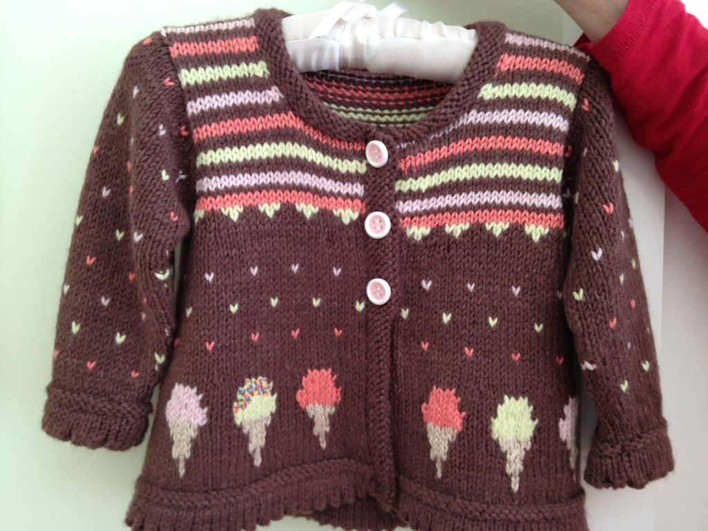 Yarn ICE CREAM CONE CARDI