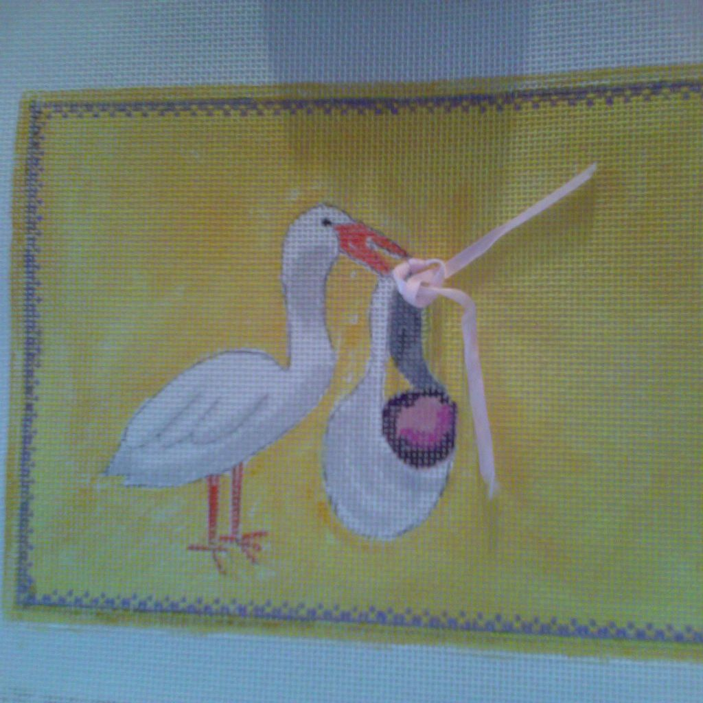 Canvas STORK AND BABY  848