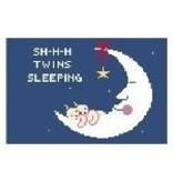 Canvas SHHH TWINS SLEEPING  PT128B