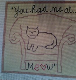 Canvas YOU HAD ME AT MEOW  S293