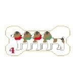 Canvas DOG BONE XMAS JACK RUSSELLS PS204