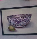Canvas BOWL WITH PEAR  DSE145