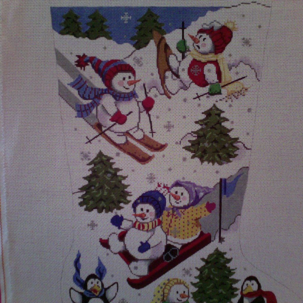 Canvas PLAYFUL SNOWMEN  601B