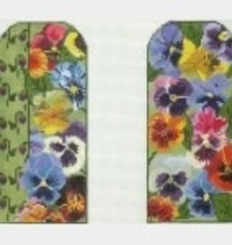 Canvas PANSIES EYEGLASS CASE  WG11585E