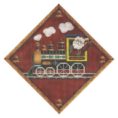 Canvas Christmas Train  521j<br />Rebecca Wood