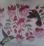 Canvas FUSCHIA HUMMINGBIRD L48