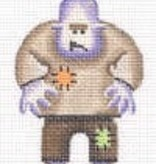 Canvas Purple Monster  023L<br />Rebecca Wood