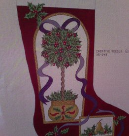 Canvas TOPIARY STOCKING XS243