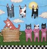 Canvas KITTY CLOTHESLINE  MK61