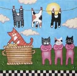 Canvas KITTY CLOTHESLINE  MK61  retired