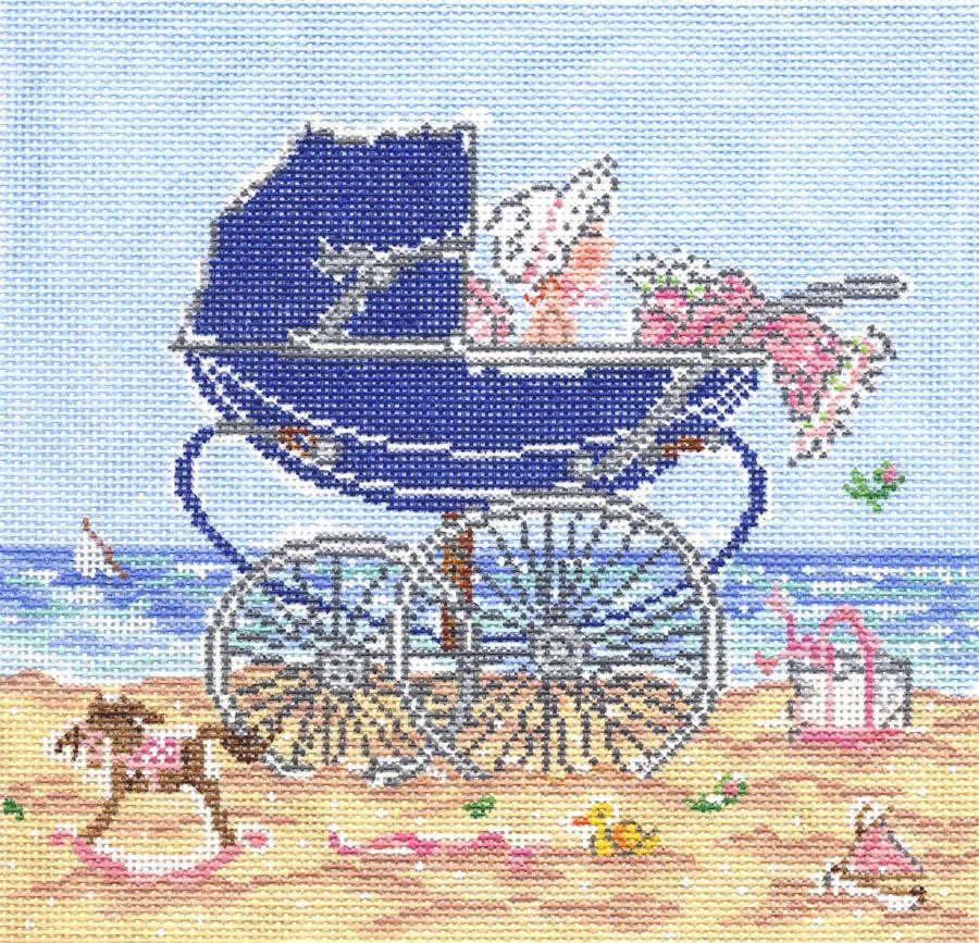 Canvas BABY GIRL PRAM  SWB1034