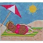 Canvas BAKED POTATO BEACH BABE  GK57