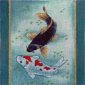 Canvas KOI ON BLUE  B71B