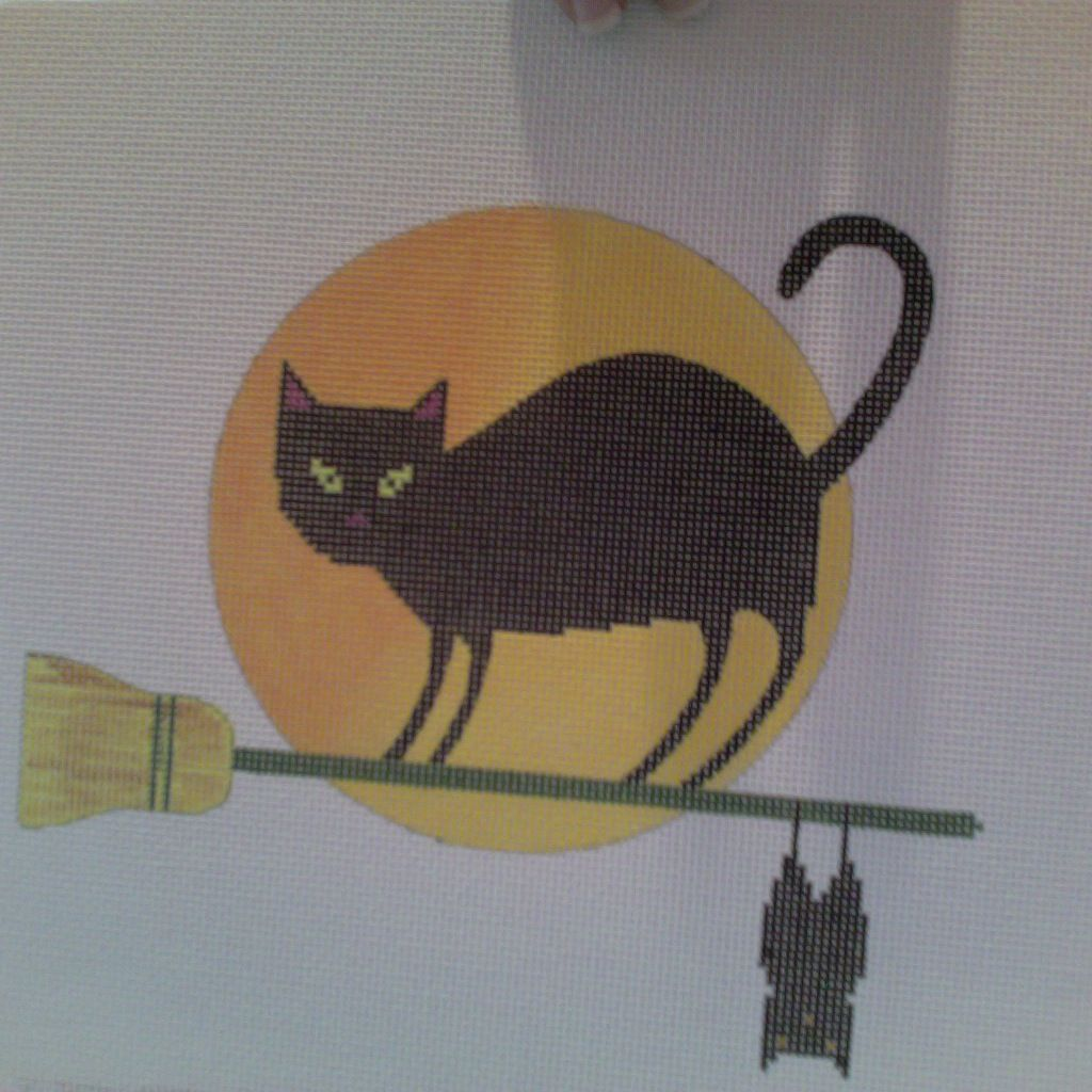 Canvas HALLOWEEN KITTY  1108