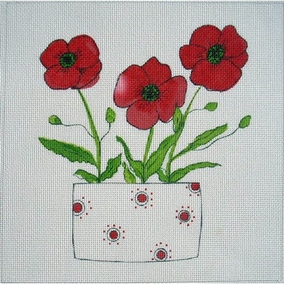 Canvas POPPIES IN VASE  GIN3