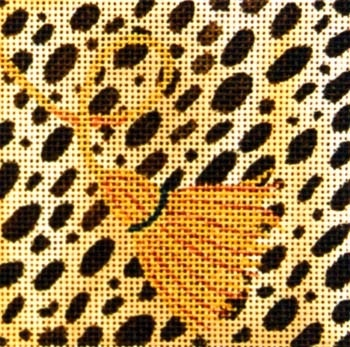 Canvas LEOPARD SKIN COASTER  A185