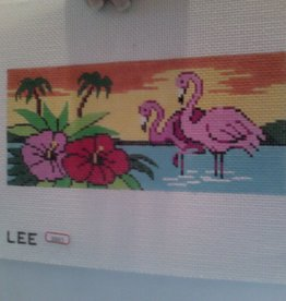 Canvas FLAMINGO SUNSET  BB43 WALLET