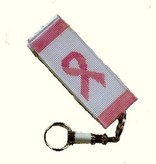 Canvas PINK RIBBON LUGGAE TAG  LT204