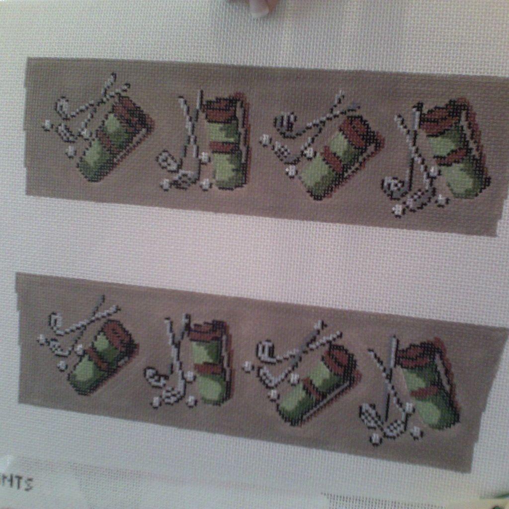 Canvas SALE  -  GOLF SHOE FLAPS  110<br /> REG $62