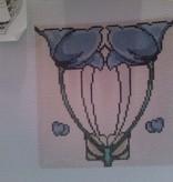Canvas SALE  -  BLUE TILE FLOWERS  DH3608  REG $32