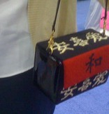 Canvas ASIAN SYMBOL MINI BOX PURSE<br />