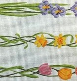 Canvas MAY FLOWERS LUGGAGE STRAPS  L773