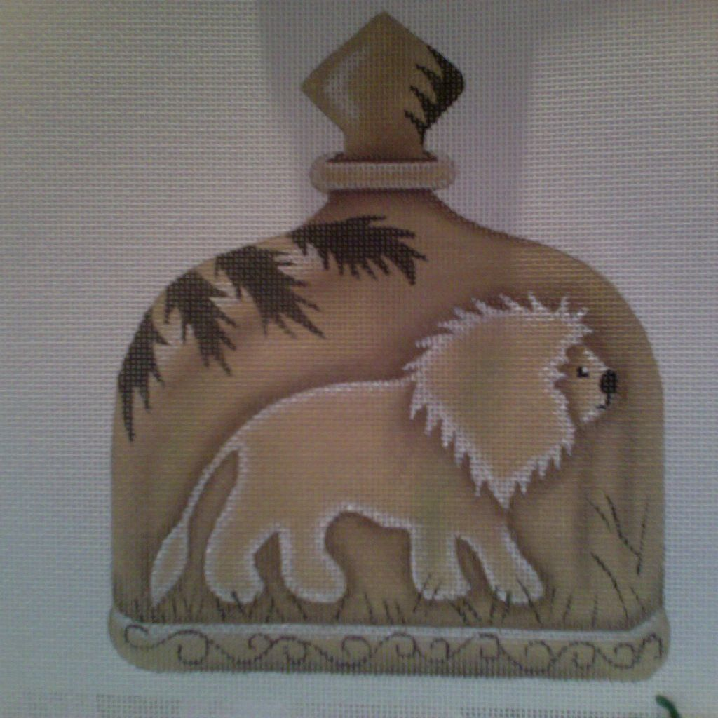 Canvas LION BOTTLE  A153 - SALE<br /> REG 44.00