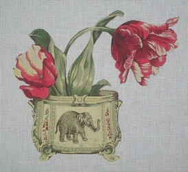 Canvas ELEPHANT VASE  SB141