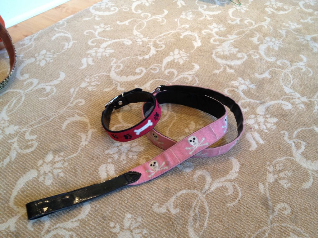 Canvas DOG COLLAR AND LEASH - ANOTHER USE FOR A BELT CANVAS