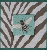 Canvas BEE & ZEBRA SKIN  B037