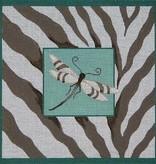 Canvas DRAGONFLY & ZEBRA SKIN  B038