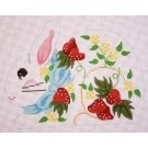 Canvas STRAWBERRY MINI BUNNY  CH310M