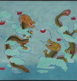 Canvas TWO DRAGONS  B180